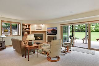 Warm and Inviting Lower Level Walkout