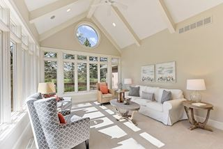 Sunny and bright family room, sunroom