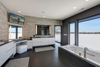 Owners Suite Bath with West Facing Views
