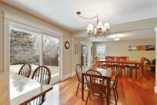 Home has informal and formal dining areas.