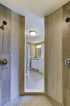 Tiled Walk-In Shower with 2 Heads
