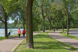 Walk paths, bike paths at Lake Harriet