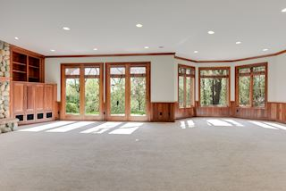 Light and bright with space for relaxation, game table, billiards or ping pong