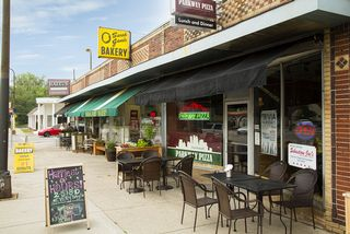 It's only a few blocks away!  It is a short walk to a bakery, restaurants and a coffee shop!