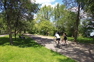 Biking is just outside your door at Lake Harriet
