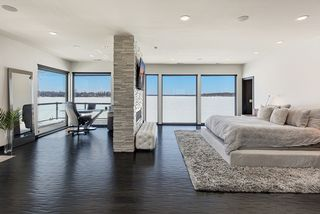Owner's Suite and Work Area with Spectacular Lake Views