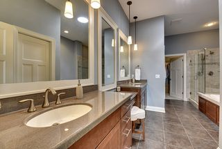 Wonderful master bath with great flooring - durable and much warmer than ceramic tile!