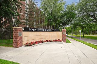 Macalester College showing Summit Avenue's tree-lined Boulevard