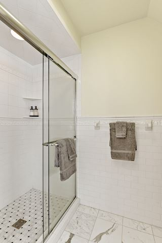 Separate shower and water closet in the master bath