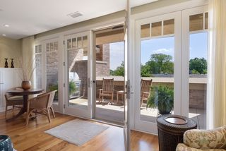 French doors flow out to the veranda