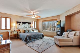 Spacious master bedroom with TWO walk-in closets and private bathroom