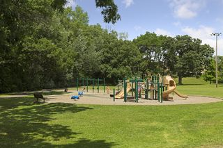 Great playground for kids of all ages and tons of green space!