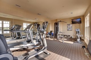 Very nice 4th floor exercise room with several windows