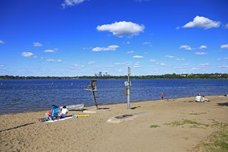 Thomas Beach on Bde Maka Ska formerly Lake Calhoun