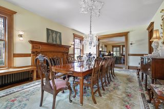 Entertainers dream formal dining room with leaded crystal chandelier - Main Floor