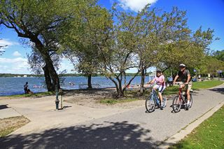 Devoted bike path around Lake Harriet