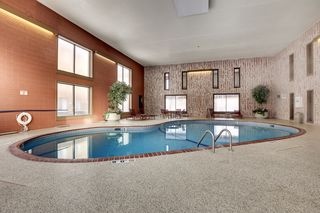 Shared amenities include an indoor pool
