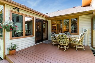 Deck off 4 season porch is perfect for grilling and entertaining!