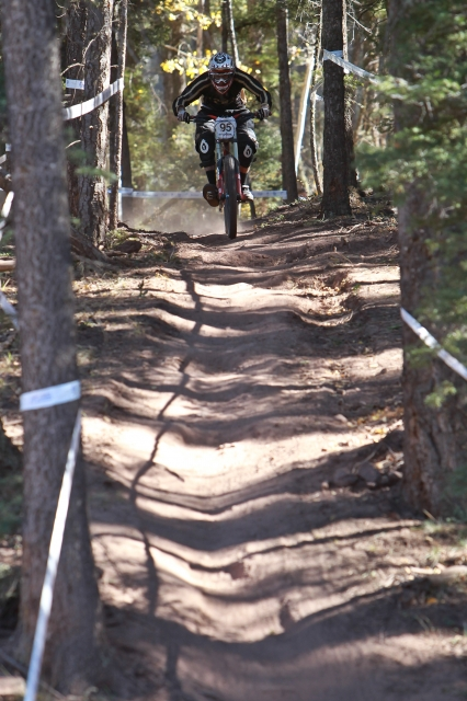 Kevin Feeney-Mosier during his downhill ride