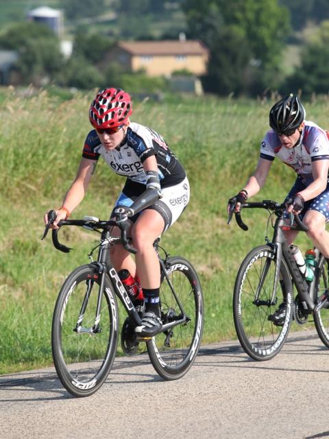 Greta Neimanas rode to the win in the C5 women's road race