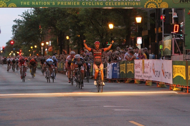 J.J. Haedo wins the Minneapolis Uptown Criterium during the 2013 Nature Valley Grand Prix