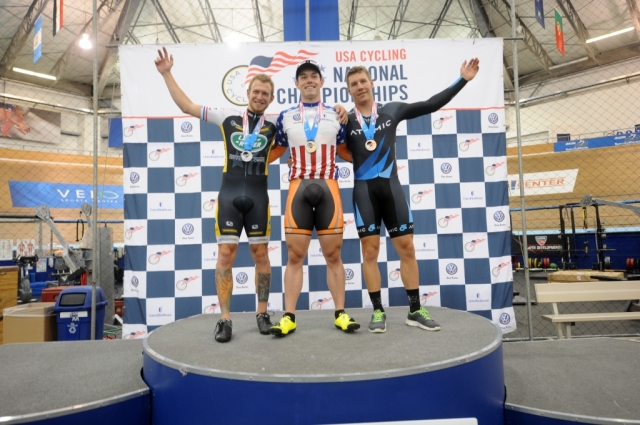 Men's time trial podium (l to r): Kevin Mansker, Matthew Baranoski and Danny Robertson