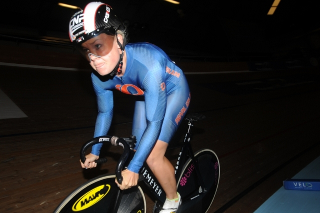 Missy Erickson powers to the time trial gold medal