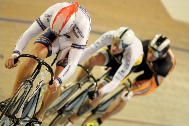 Nathan Koch leads Team Felt to victory in the men's team sprint