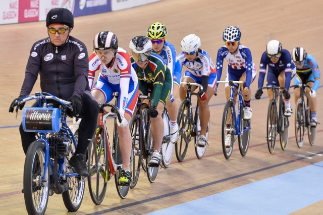 Sarah Huang finished 13th in the women's keirin