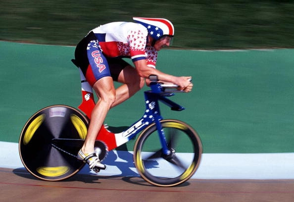 Erin in the 1996 Olympics in Atlanta. Photo by Henri Szwarc/Getty Images