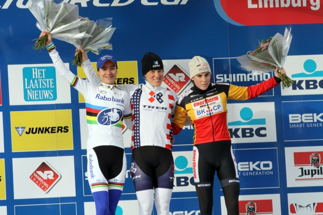Katie Compton won the UCI World Cup race in Heusden-Zolder
