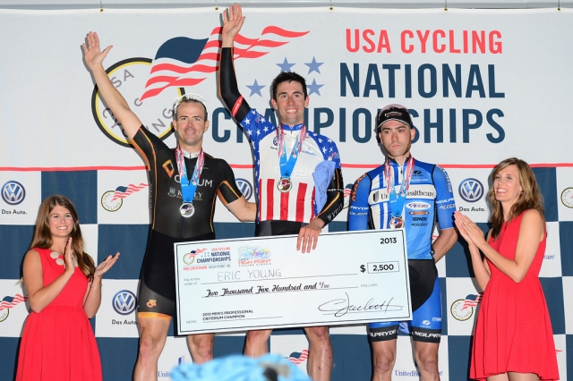 Eric Young topped the professional men's podium