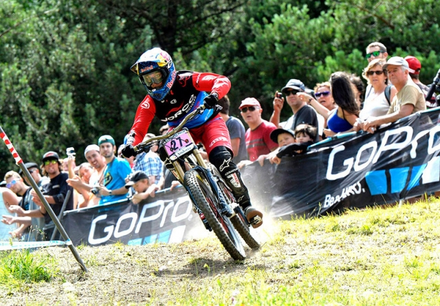 Jill Kintner finished eighth among the elite women in the downhill