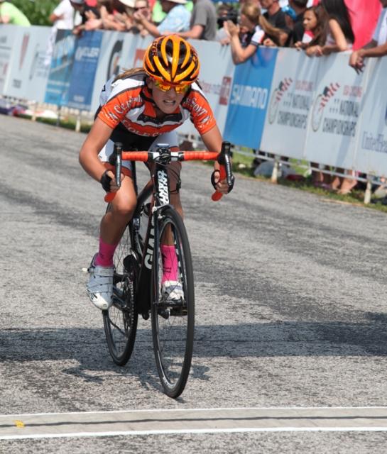 Katie Clouse wins the jr women's 10-12 road race