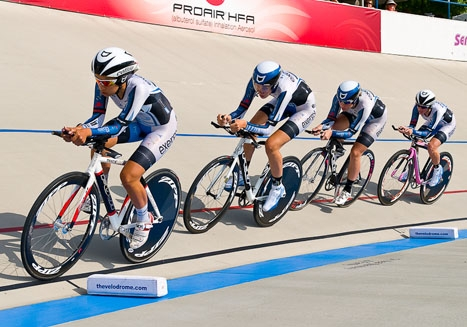 Team ExergyTWENTY16 in formation. Photo by Todd Leister/Leister Images