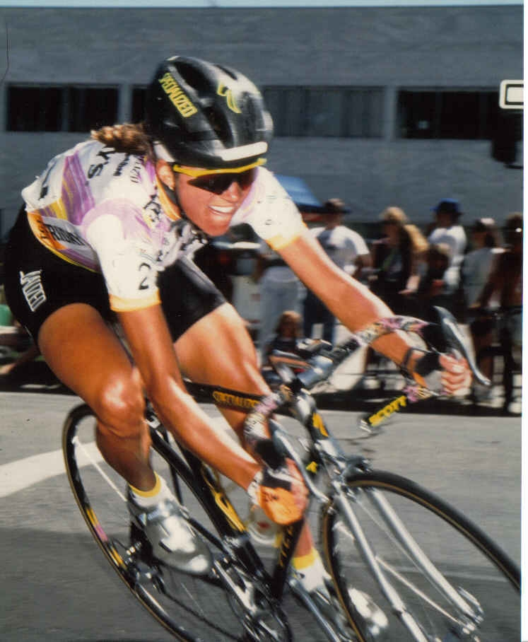 Manley in a Boise crit in 1990