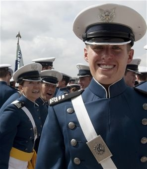 Zeb Hanley was the top graduate out of the 1,024 cadets in the Academy's class of 2013.