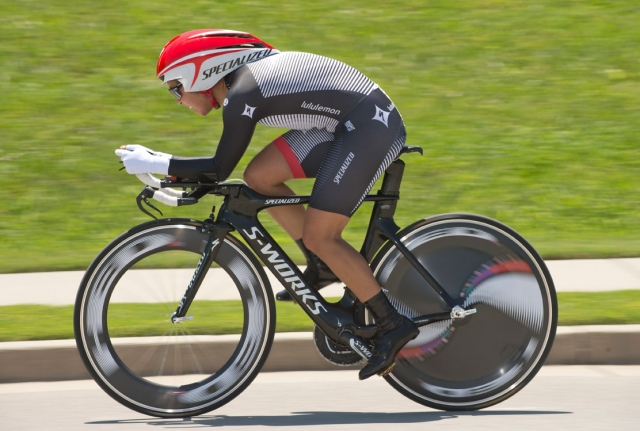 Carmen Small won the women's time trial