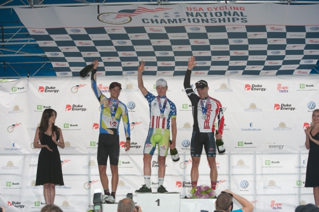 Photo: Timmy Duggan topped the men's road race podium.