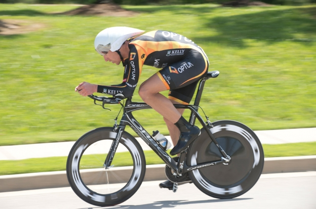 Tom Zirbel won the men's time trial with a time of 38:16.04