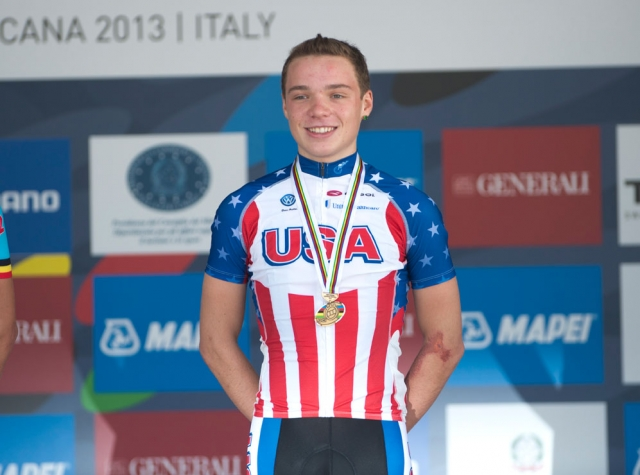 2013 juniors time trial bronze medalist Zeke Mostov