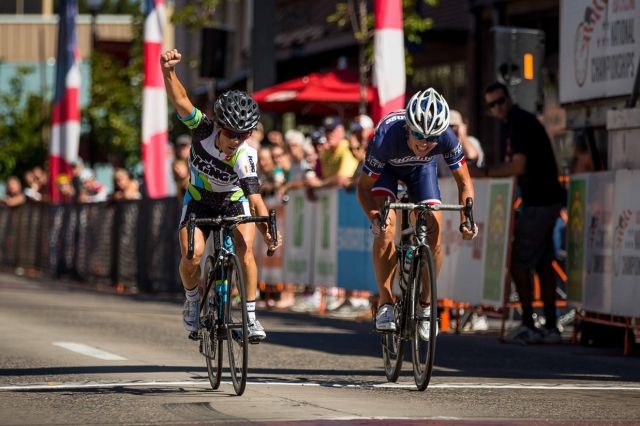 Ginny King edged Julie Cutts at the line to win the national title