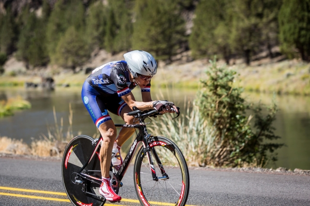 Lisa Magness won the women's 50-54 time trial