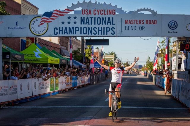 Matthew Gates used a well-timed breakaway to win the national championship