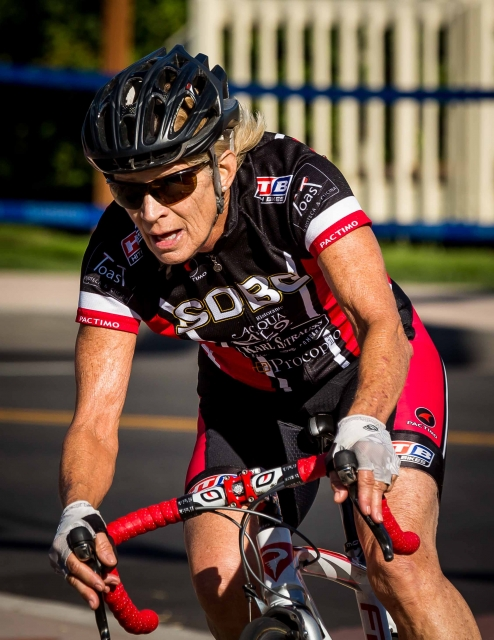 Patricia Kimper won the women's 65-69 criterium national championship