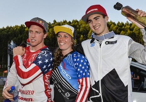 Three medals for Americans in the downhill races at the MTB World Cup opener