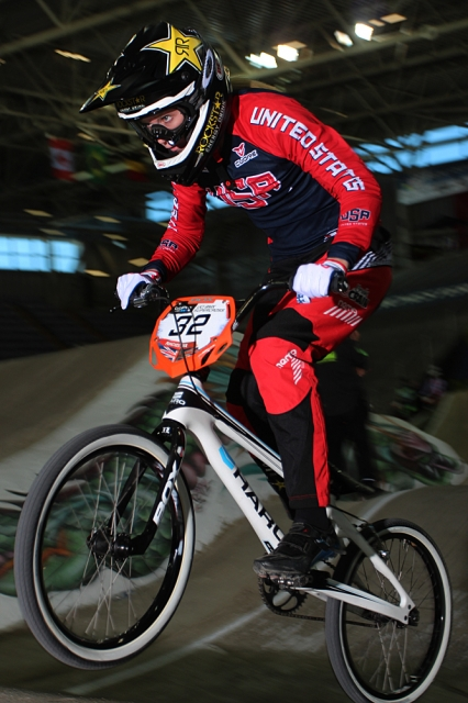 Brooke Crain takes a strong 2nd place finish in the UCI BMX Time Trial Super Final.