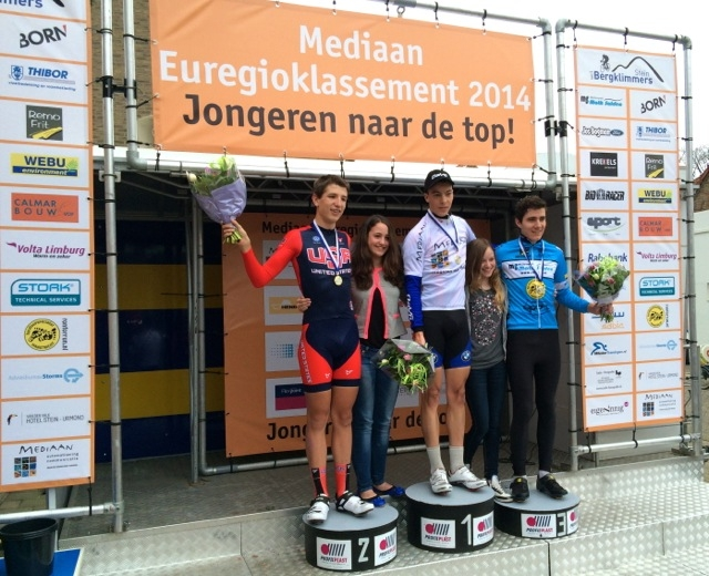 Gavin Hoover finished second in the Grevenbicht Criterium on April 8