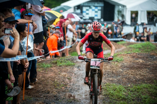 Kate Courtney finished sixth in the women's eliminator