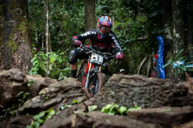 Neko Mulally finished third in the elite men's downhill